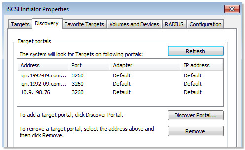 Business Storage NAS - How to enable an iSCSI target in Windows