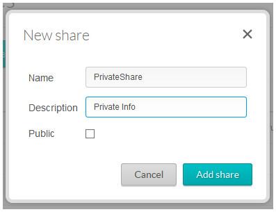 New share properties box