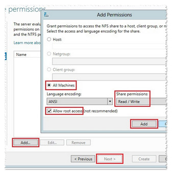 Add permissions screen