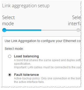 Link aggregation setup