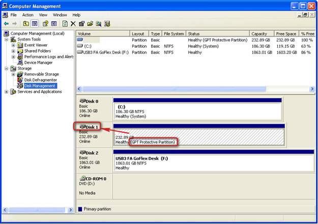 Troubleshooting GPT Protective Partition Issues | Seagate