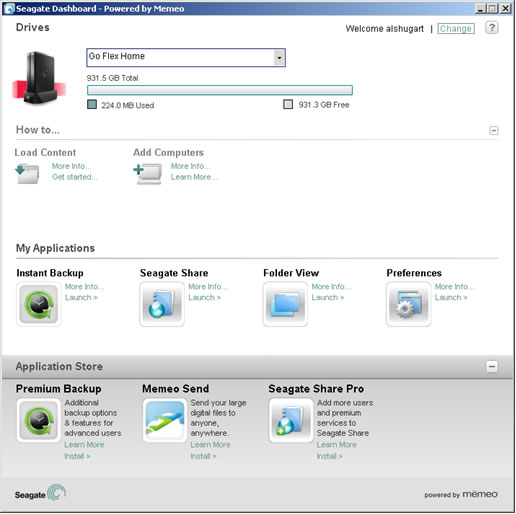 seagate freeagent goflex software download
