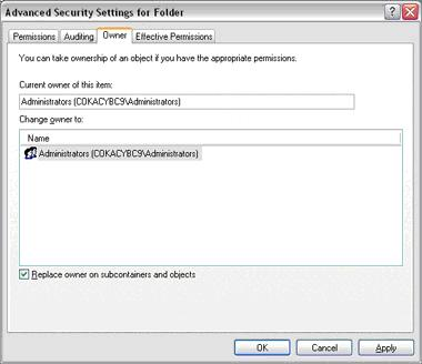 Access Denied Error or File/Folder Permission Issues on an