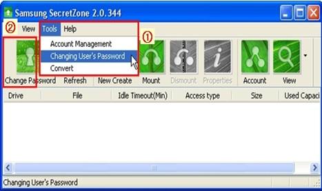 Samsung SecretZone: Account and user management | Seagate Support